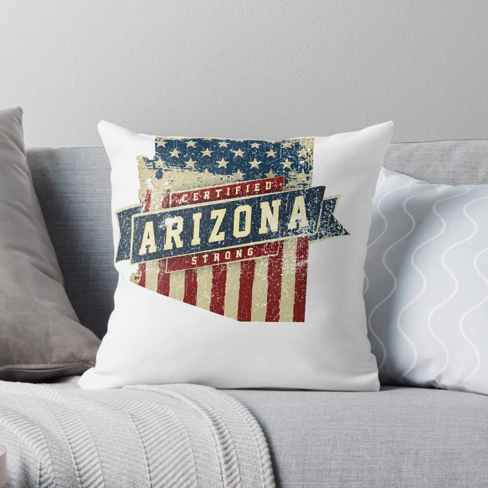 Arizona Starke USA Flag State Home Certified Großes Geschenk Awesome Stolze Fans Dekokissen