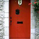 Quebec Red Door by Brenda Dow