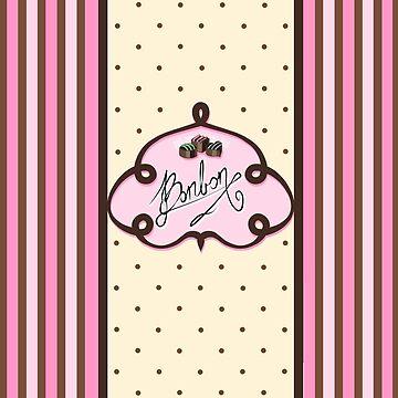 Bonbon chocolate design pink by Reno-Viol
