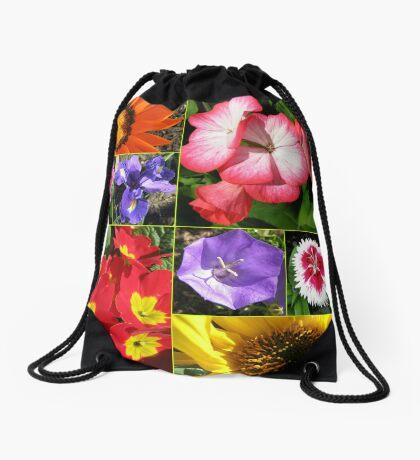 Sunkissed Blumen-Collage Turnbeutel