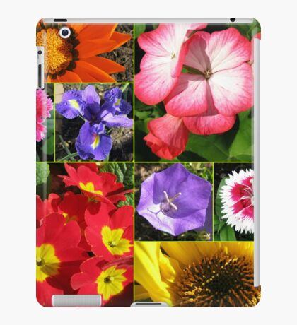 Sunkissed Blumen-Collage iPad-Hülle & Klebefolie