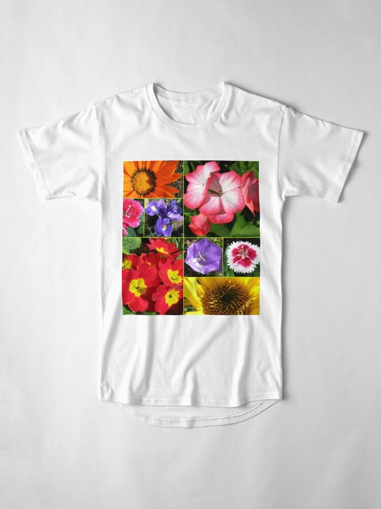 Alternative Ansicht von Sunkissed Blumen-Collage Longshirt