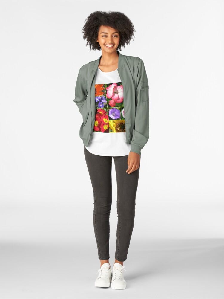 Alternative Ansicht von Sunkissed Blumen-Collage Premium Rundhals-Shirt
