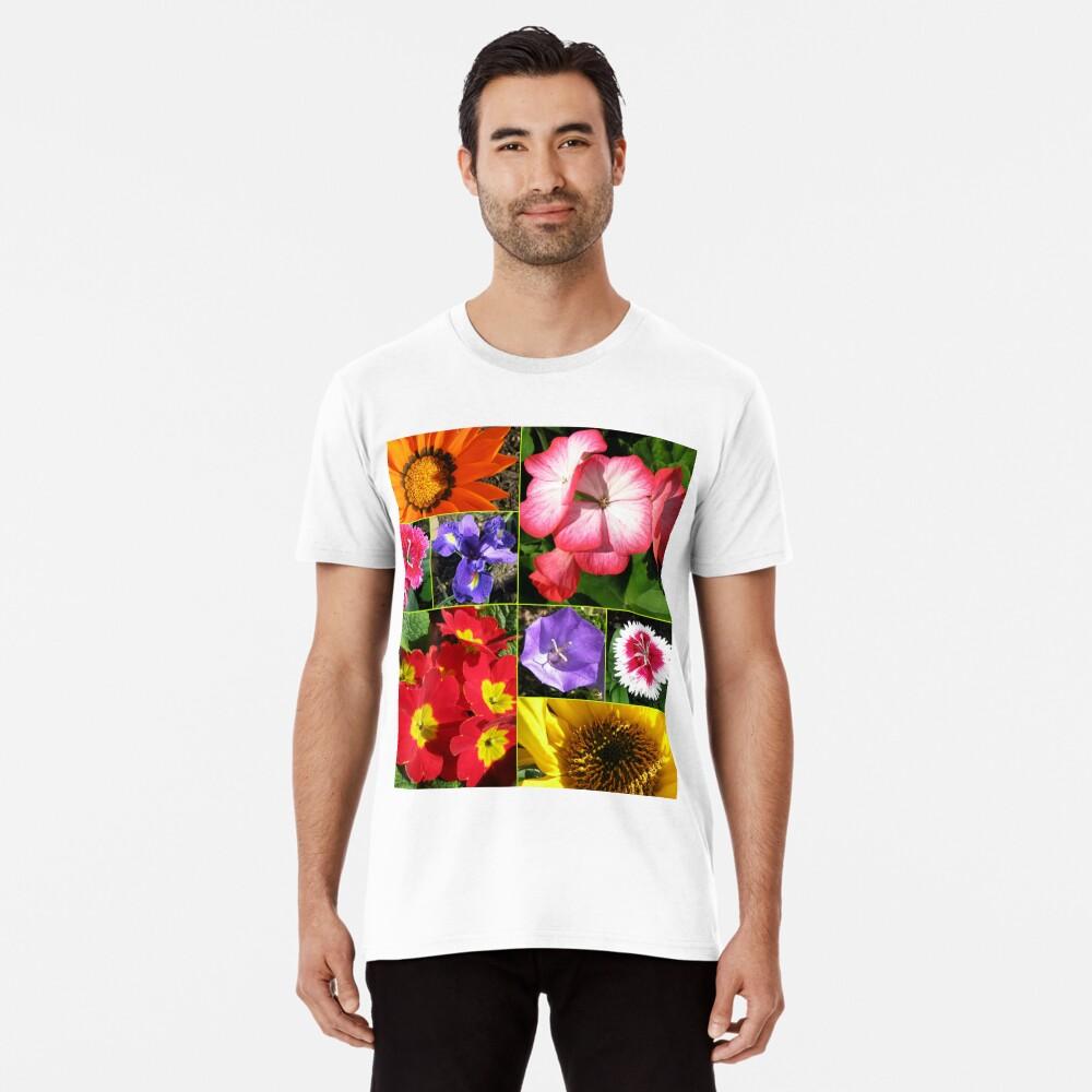 Sunkissed Blumen-Collage Premium T-Shirt