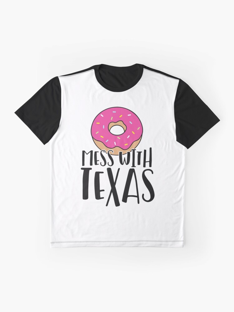 Alternate view of Donut Mess with Texas Graphic T-Shirt