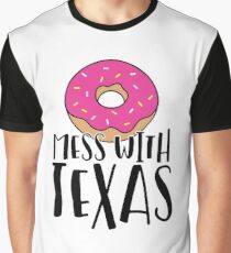 Donut Mess with Texas Graphic T-Shirt