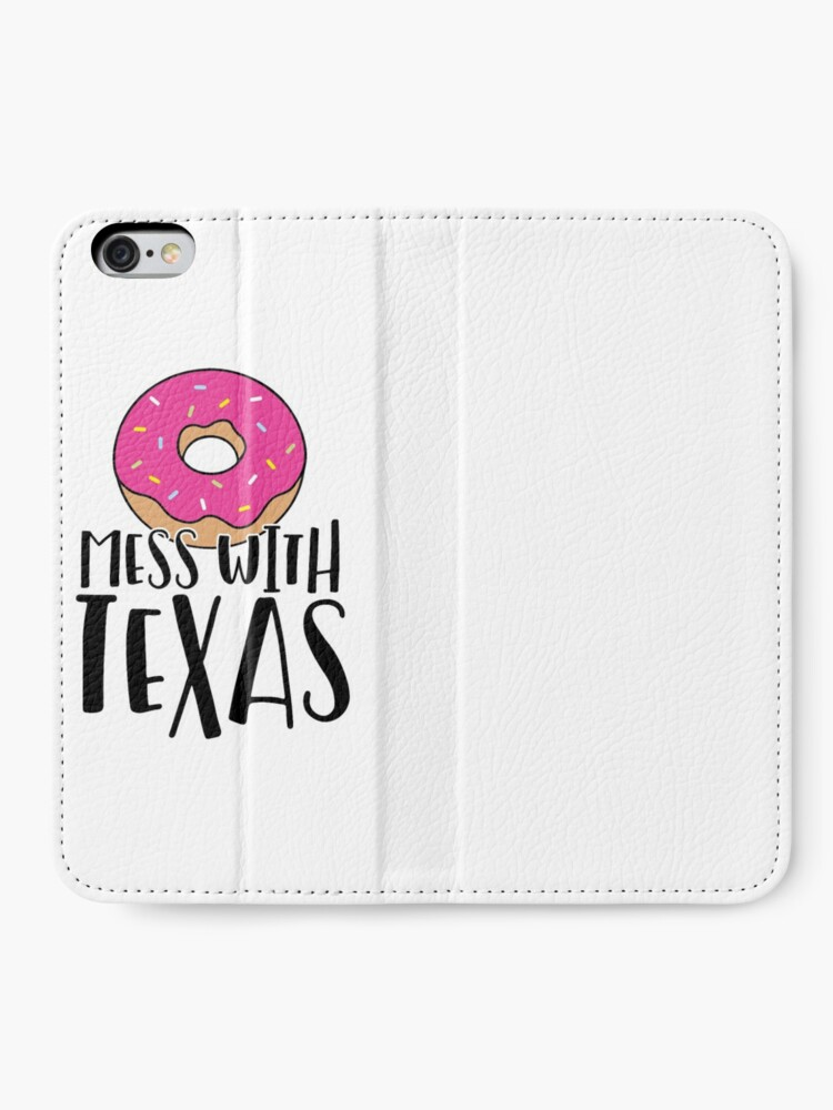 Alternate view of Donut Mess with Texas iPhone Wallet