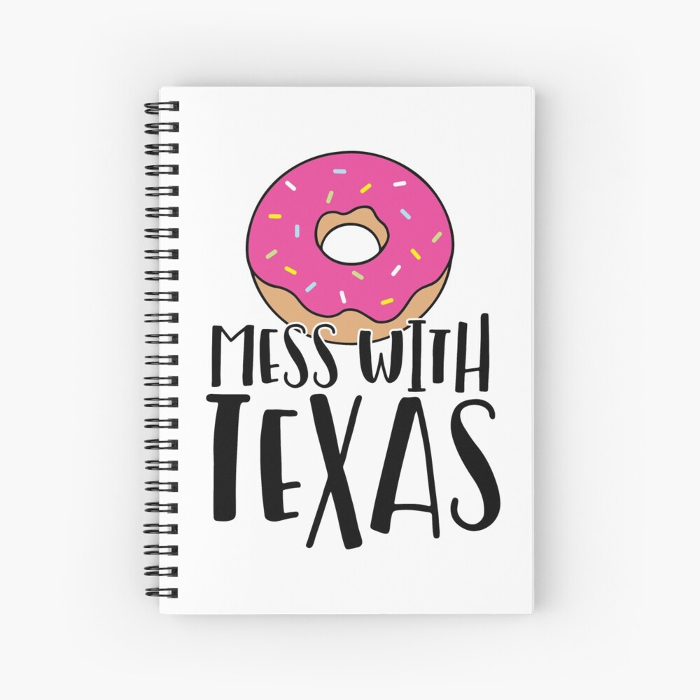 Donut Mess with Texas Spiral Notebook