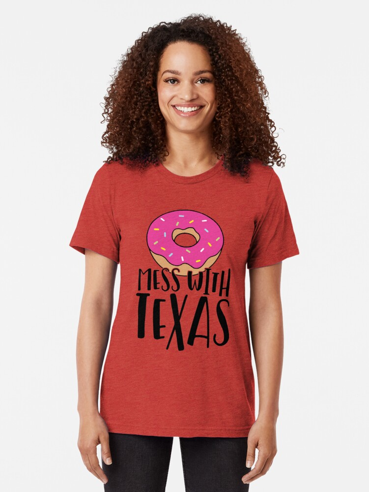 Alternate view of Donut Mess with Texas Tri-blend T-Shirt
