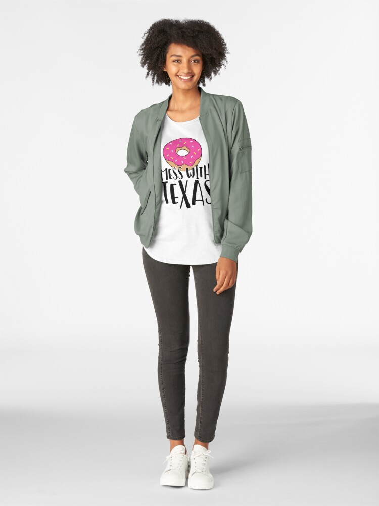 Alternate view of Donut Mess with Texas Premium Scoop T-Shirt