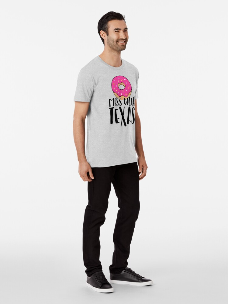 Alternate view of Donut Mess with Texas Premium T-Shirt