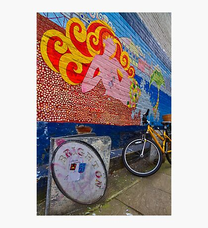 Brighton By Bike - England Photographic Print