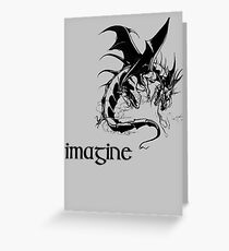 imagine dragon Greeting Card