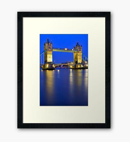 Tower Bridge at Night - London Framed Print