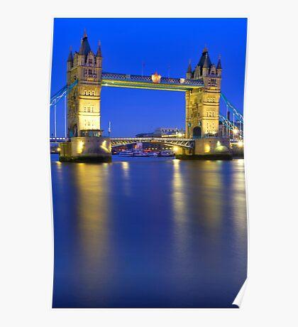 Tower Bridge at Night - London Poster