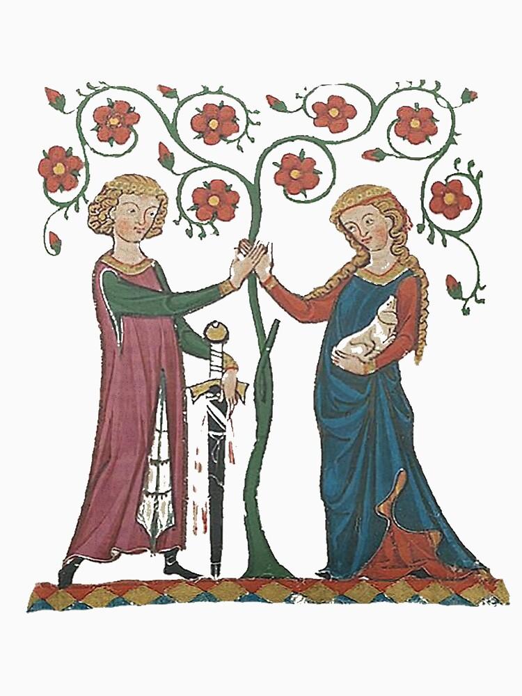 Medieval Couple, German circa 1250 by edsimoneit