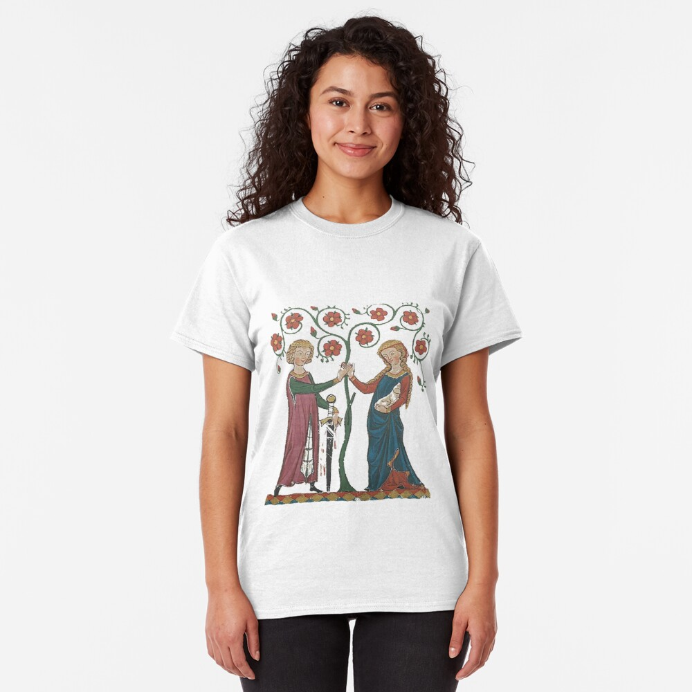 Medieval Couple, German circa 1250 Classic T-Shirt
