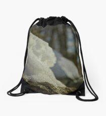 Winter Bokeh Drawstring Bag