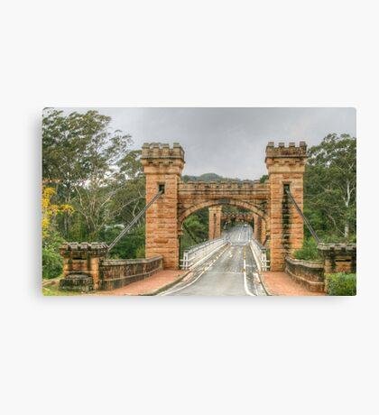 Hampden Bridge in the Kangaroo Valley .. HDR Canvas Print