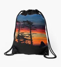 WIND SWEPT SUNSET Drawstring Bag