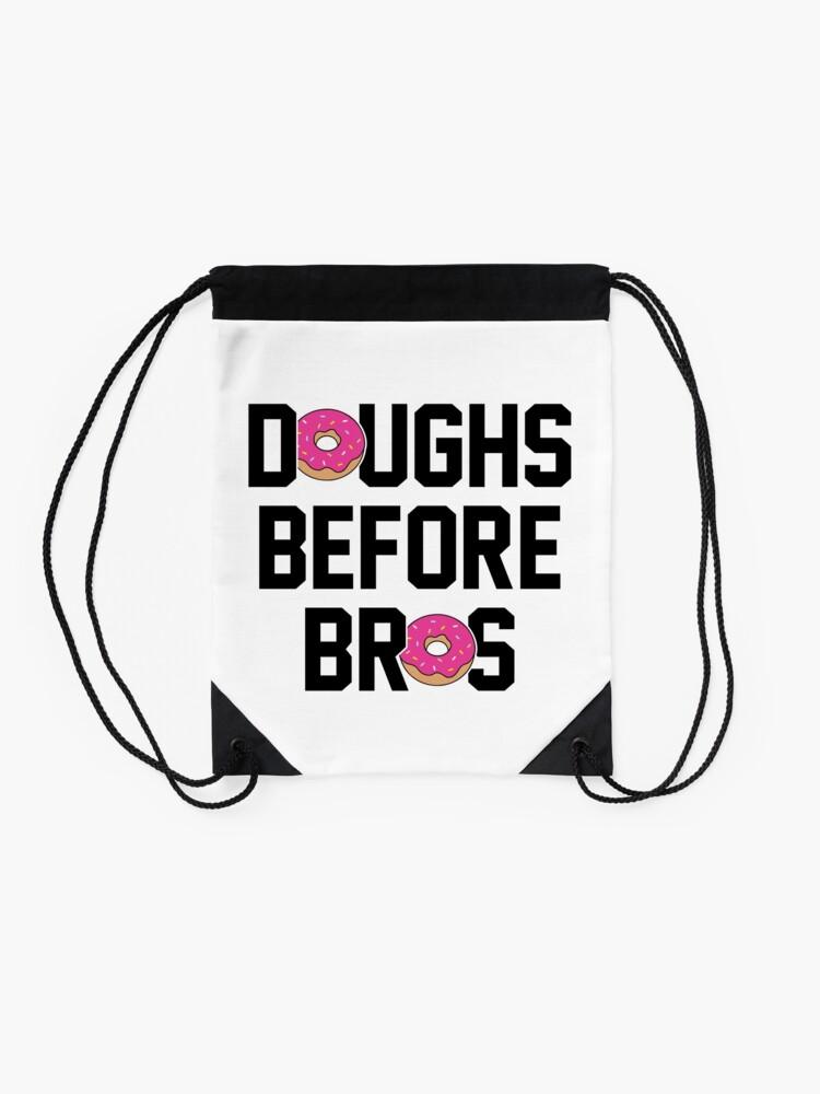 Alternate view of Doughs before bros Drawstring Bag