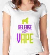 Release The Vape - Vape Vaping Gift Shirt Tee Women's Fitted Scoop T-Shirt