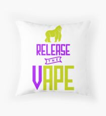 Release The Vape - Vape Vaping Gift Shirt Tee Throw Pillow