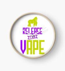 Release The Vape - Vape Vaping Gift Shirt Tee Clock