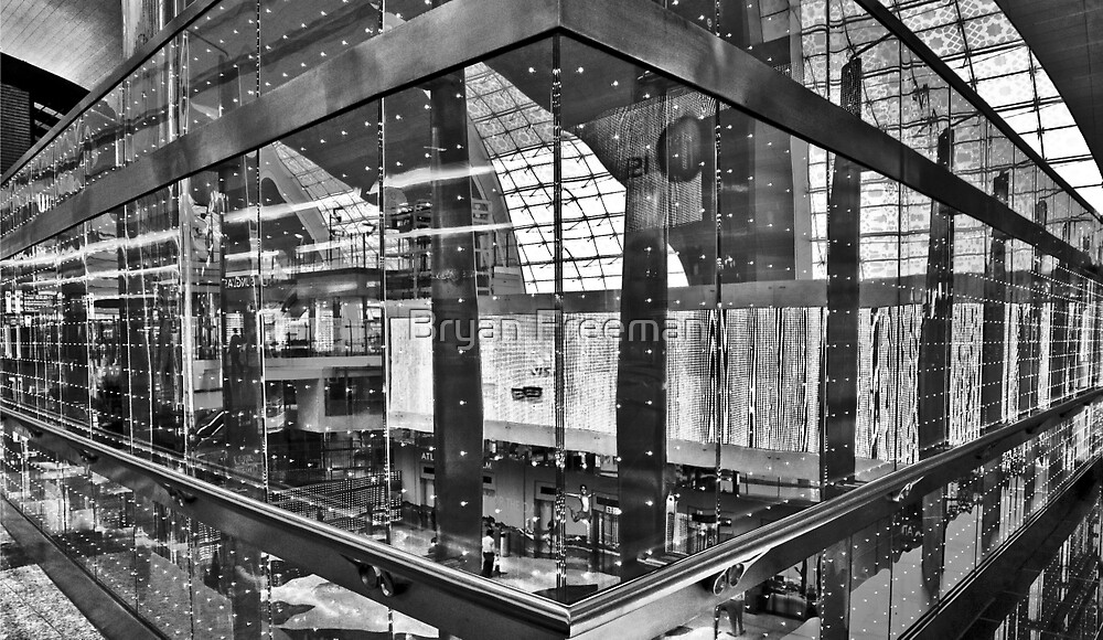 Glass - Steel - Lights - Dubai International Airport Terminal by Bryan Freeman
