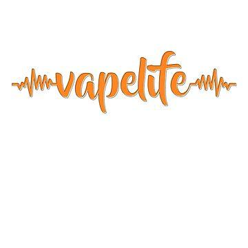 Vape Life Heartbeat - Vape Vaping Gift Shirt Tee by Goridan