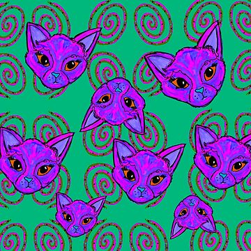 Trippy Cat Vibes by kassidycoleman
