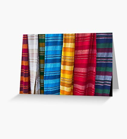 Pashminas or  Scarves - Camden Markets - London Greeting Card