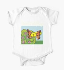 Butterfly Butter Up and Bug On One Piece - Short Sleeve