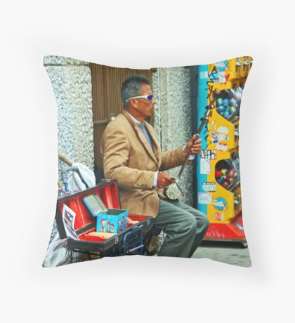 Chinatown Street Musician 1 Throw Pillow