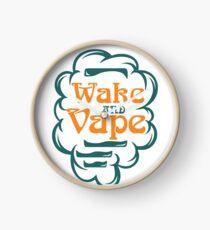 Wake And Vape - Vape Vaping Gift Shirt Tee Clock