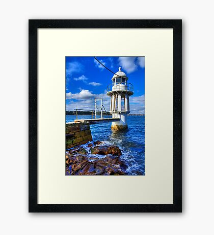 Robertson's Point Lighthouse - Sydney - Australia Framed Print