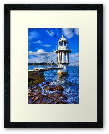 Robertson's Point Lighthouse - Sydney - Australia by Bryan Freeman
