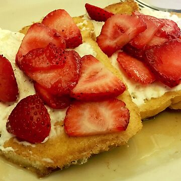 french toast and strawberries by cipollakate
