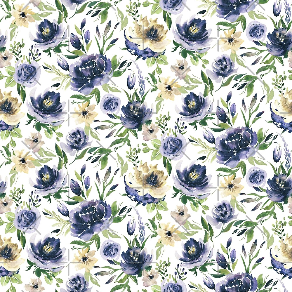 Violet and pastel yellow flowers pattern by artonwear redbubble violet and pastel yellow flowers pattern by artonwear mightylinksfo