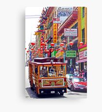 Chinatown Streetcar Metal Print
