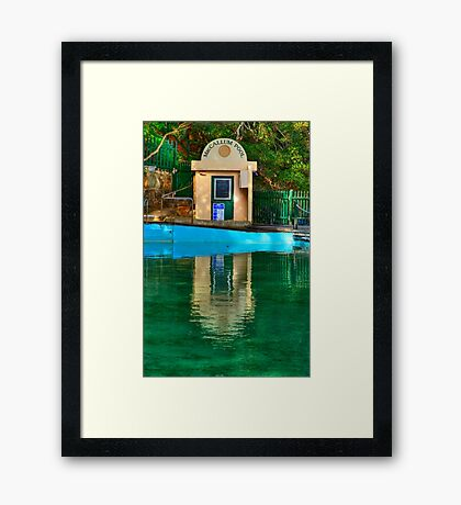 Pool Hut - MacCallum Pool - Cremorne Point - Sydney Australia Framed Print
