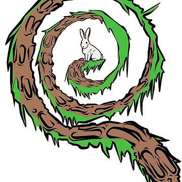 Follow the White Rabbit (Green/Brown) - Qanon by GreatAwakening