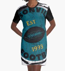 JACKSONVILLE FOOTBALL ESTABLISHED 1993  - POPULAR DISTRESSED FOOTBALL  DESIGN Graphic T-Shirt Dress