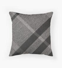 burberry Grey cotton tie Throw Pillow