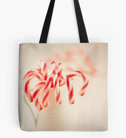 Christmas red and white Tote Bag
