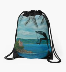 Gateway To Portofino Drawstring Bag