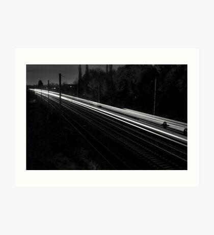 Travel By Light Art Print