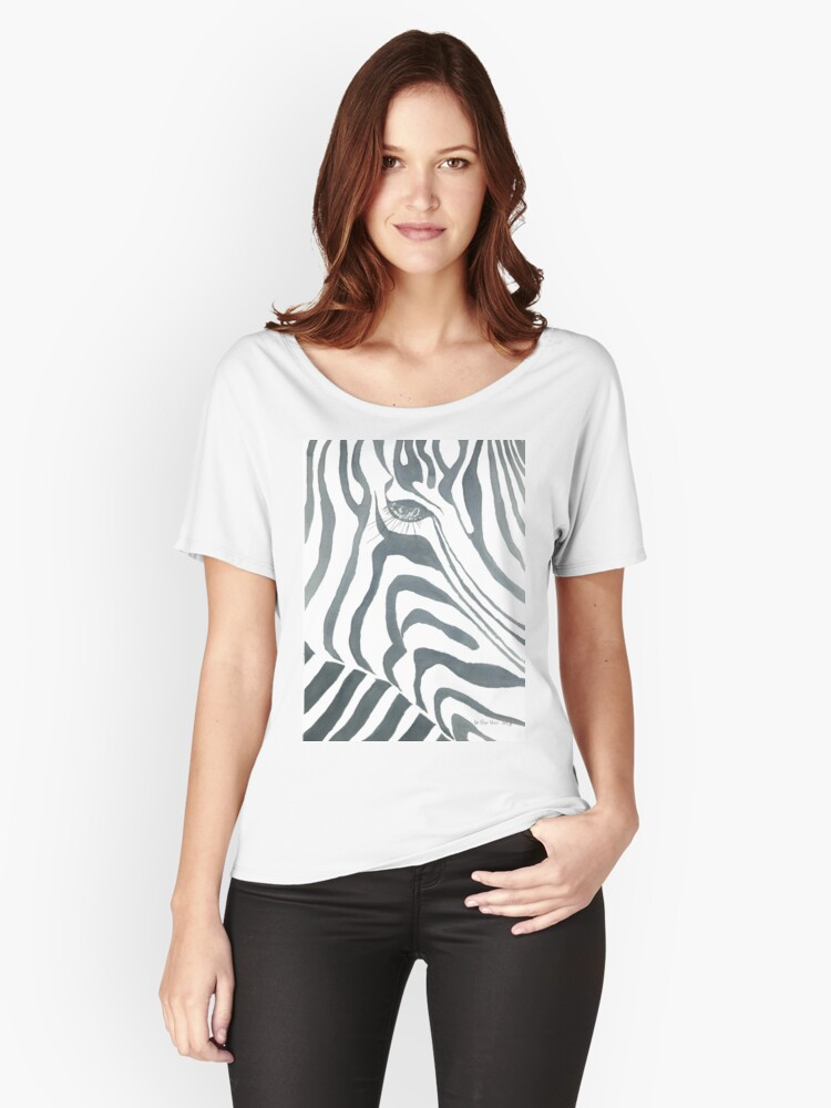 Zebra Women's Relaxed Fit T-Shirt Front