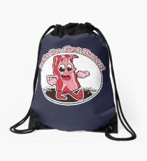 """Retro Bacon Design """"Let's Go Get Bacon!"""" Drawstring Bag"""