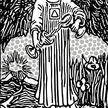 Modern Tarot Print - Temperance by annaleebeer